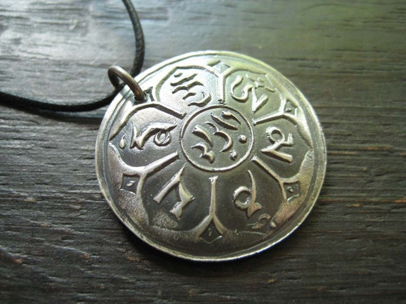 Sterling Buddhism Pendant