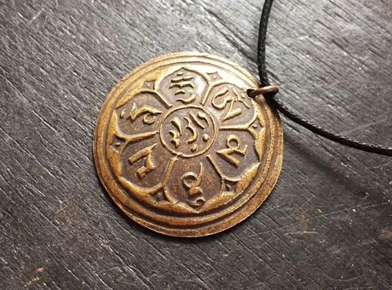 Brass Buddhism Pendant