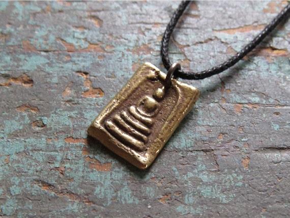 Brass Buddha Pendant