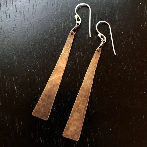 Medium Hammered Brass Tapers