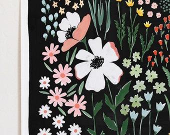 Eventide Floral Art Print - 12x16