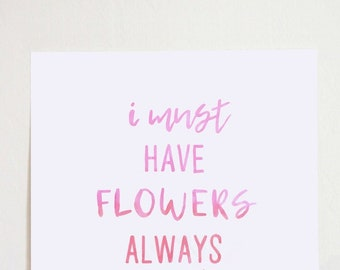 I Must Have Flowers Always and Always - Claude Monet