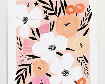 Floral Art Print II - 11x14
