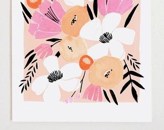 Floral Art Print I - 11x14