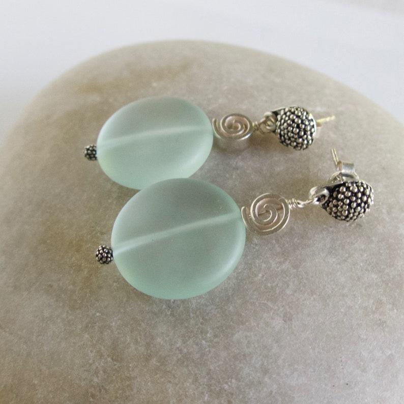 Sterling Silver Murano Glass Earrings Spiral Glass U Pick Color Dangle Earring