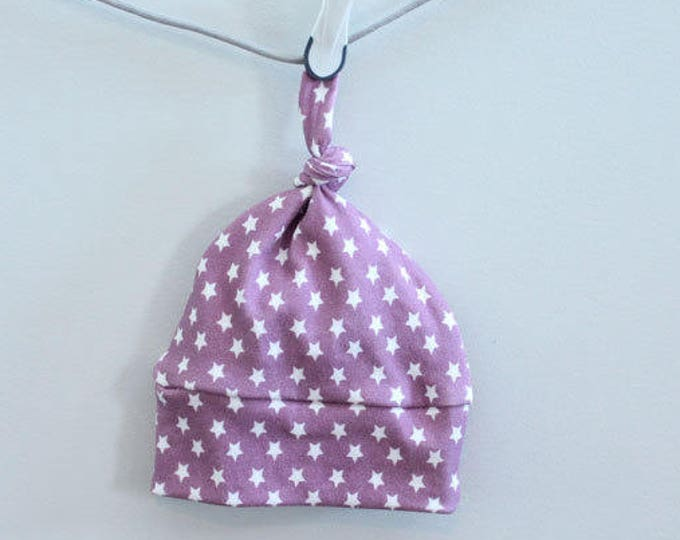 baby hat arrow star berry purple Organic knot modern newborn shower gift photography prop hospital outfit accessory neutral girl boy