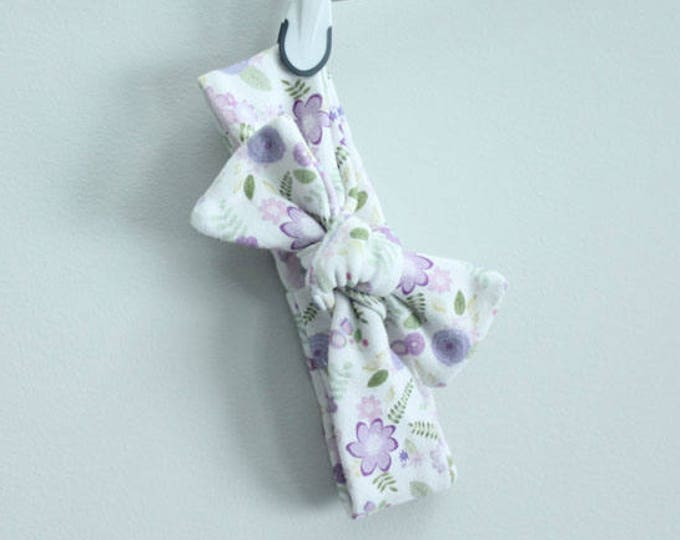 headband baby purple farmhouse floral Organic knot by PETUNIAS  modern newborn shower gift photography prop outfit accessory girl
