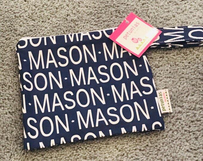 Mason ICKY Bag petite dark blue extra discounted item PETUNIAS by Kelly