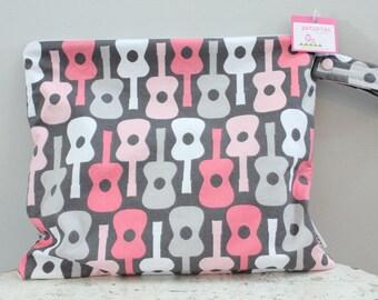 SALE Wet Bag wetbag Diaper Bag ICKY Bag grey mod gym bag swim cloth diaper accessories zipper shower gift newborn baby child kids summer