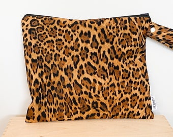 The ICKY Bag - wetbag - PETUNIAS by Kelly - leopard