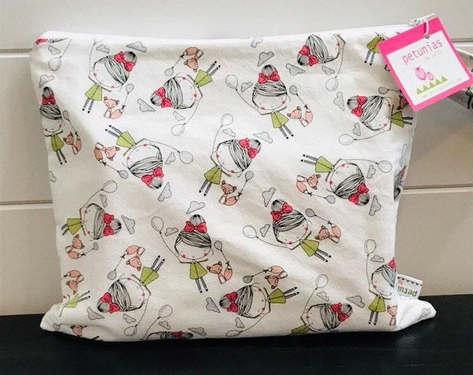 Wet Bag wetbag Diaper Bag ICKY Bag wet proof pink girl fox gym bag swim cloth diaper accessories zipper gift newborn baby kids beach ba