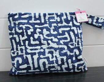 Wet Bag wetbag Diaper Bag ICKY Bag wet proof indigo batik gym bag swim cloth diaper accessories zipper gift newborn baby kids beach bag