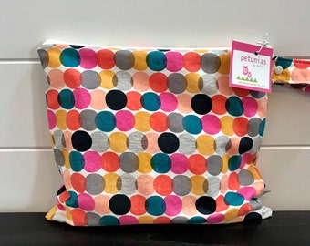 Wet Bag wetbag Diaper Bag ICKY Bag wet proof bright dots  gym bag swim cloth diaper accessories zipper gift newborn baby kids bea