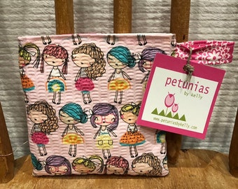 Reusable Little Snack Bag - pouch adults kids eco friendly by PETUNIAS