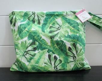 Wet Bag wetbag Diaper Bag ICKY Bag wet proof green palm leaf gym bag swim cloth diaper accessories zipper gift newborn baby kids beach bag