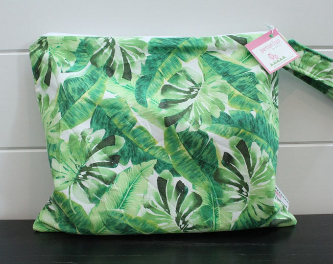 Wet Bag wetbag Diaper Bag ICKY Bag wet proof green palm leaf gym bag swim cloth diaper accessories zipper gift newborn baby kids beach bag