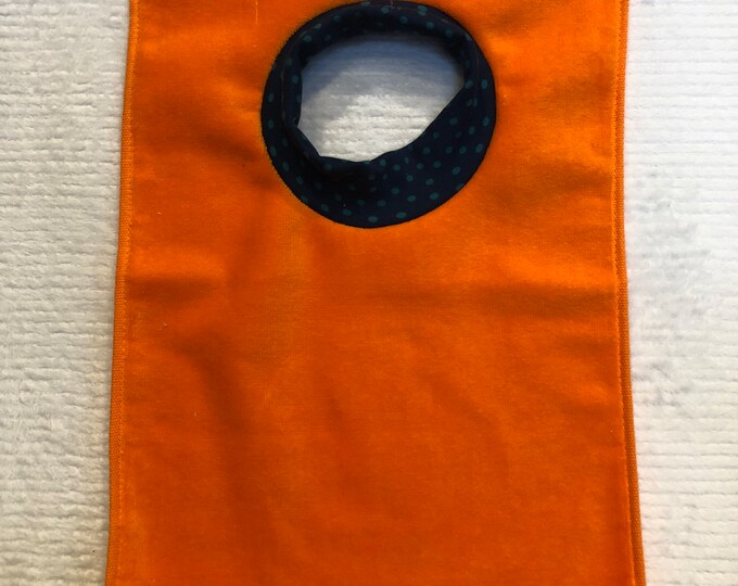 SALE Towel Bib by PETUNIAS - absorbent washable dryable organic knit baby toddler gift