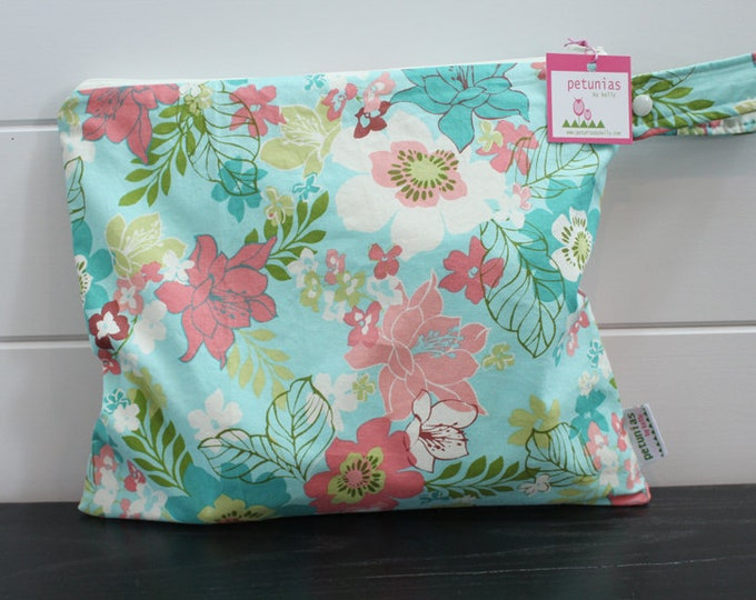 Wet Bag wetbag Diaper Bag ICKY Bag wet proof aqua floral gym bag swim cloth diaper accessories zipper gift newborn baby kids beach bag