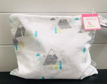 Wet Bag wetbag Diaper Bag ICKY Bag wet proof grey teal mountain gym bag swim cloth diaper accessories zipper gift newborn baby kids beach b