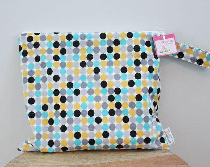 Wet Bag wetbag Diaper Bag ICKY Bag wet proof grey dot gym bag swim cloth diaper accessories zipper gift newborn baby child kids summer