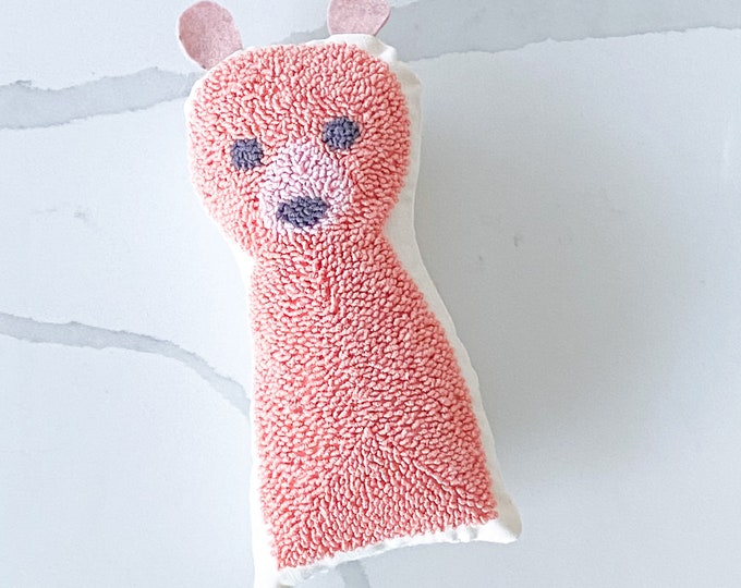 Punch needle bear doll - PETUNIAS by Kelly - stuffed toy