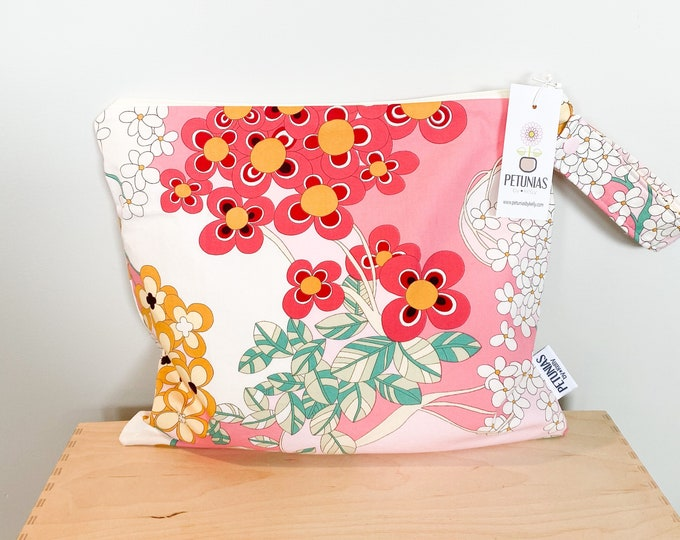 The ICKY Bag - wetbag - PETUNIAS by Kelly - pretty floral