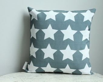 SALE Pillow cover blue star 14 inch 14x14 modern hipster accessory home decor nursery baby gift present zipper closure canvas ready to ship