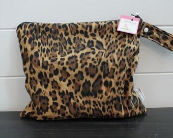 Wet Bag wetbag Diaper Bag ICKY Bag wet proof leopard print gym bag swim cloth diaper accessories zipper gift newborn baby kids beach bag