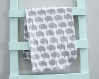 baby blanket swaddle fleece grey buffalo bison by PETUNIAS newborn hipster modern baby shower gift photo prop wrap cotton boy nuetral