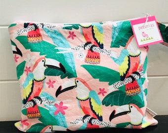 Wet Bag wetbag Diaper Bag ICKY Bag wet proof pink bird toucan gym bag swim cloth diaper accessories zipper gift newborn baby kids beach ba