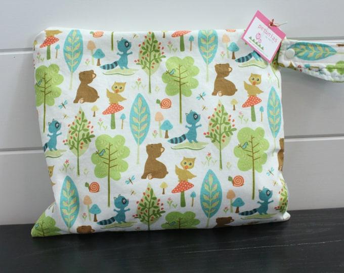 Wet Bag wetbag Diaper Bag ICKY Bag wet proof forest animals gym bag swim cloth diaper accessories zipper gift newborn baby kids beach bag