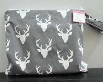 Wet Bag wetbag Diaper Bag ICKY Bag wet proof grey deer antlers gym bag swim cloth diaper accessories zipper gift newborn baby kids beach bag