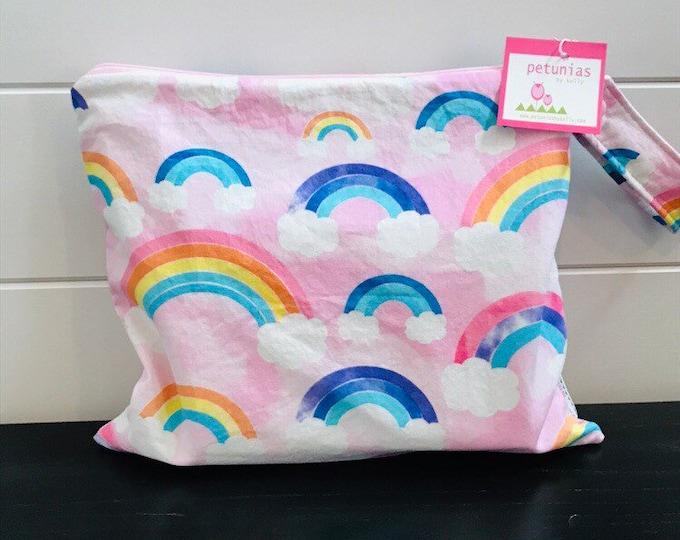 Wet Bag wetbag Diaper Bag ICKY Bag wet proof pink rainbow gym bag swim cloth diaper accessories zipper gift newborn baby kids beach ba