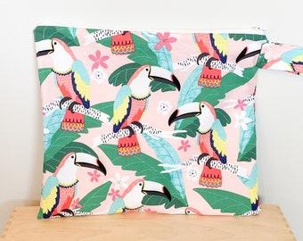 Wet Bag wetbag Diaper Bag ICKY Bag parrot wet bag cosmetics toiletries gym bag swim cloth diaper accessories zipper gift baby kids