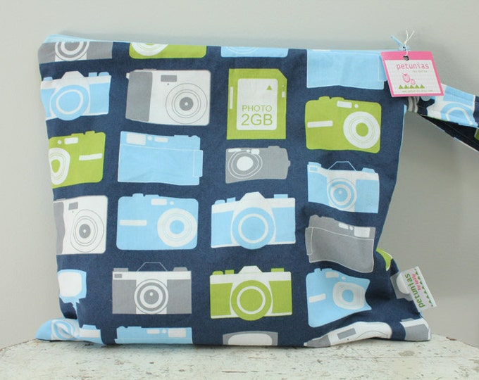 Wet Bag wetbag Diaper Bag ICKY Bag camera PETUNIAS gym bag swim cloth diaper accessories zipper shower gift newborn baby child kids summer