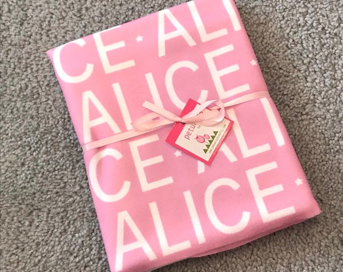 ALICE fleece baby blanket EXTRA discounted item PETUNIAS by Kelly