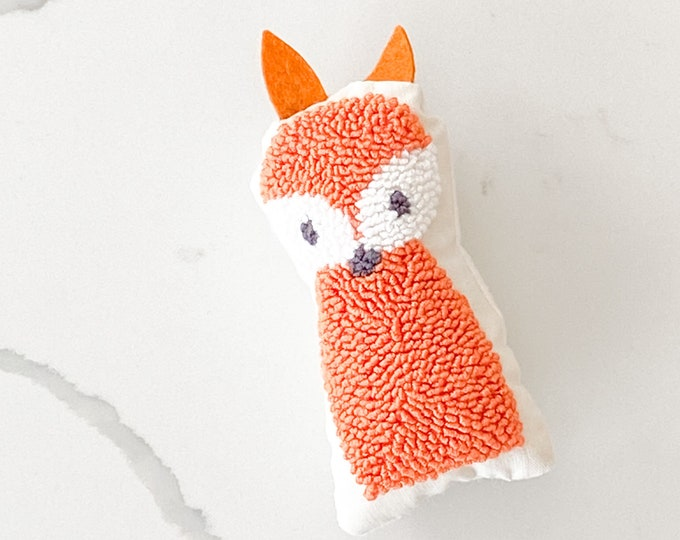 Tiny punch needle fox doll - PETUNIAS by Kelly - stuffed toy