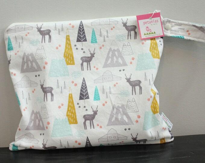 Wet Bag wetbag Diaper Bag ICKY Bag wet proof mountain deer gym bag swim cloth diaper zipper gift newborn baby child kids summer beach