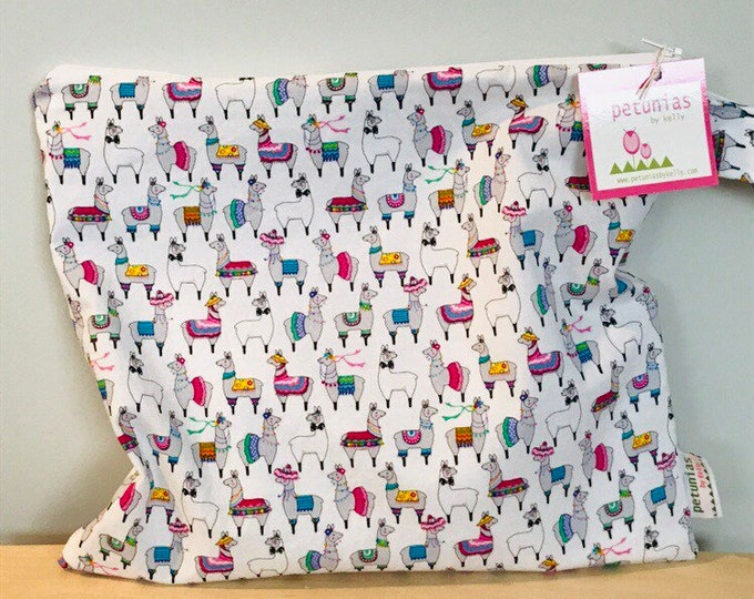 Wet Bag wetbag Diaper Bag ICKY Bag alpaca llama organizer cosmetics toiletries gym bag swim cloth diaper accessories zipper gift baby kids