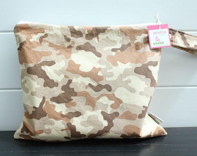 Wet Bag wetbag Diaper Bag ICKY Bag wet proof tan camo gym bag swim cloth diaper accessories zipper gift newborn baby kids beach bag