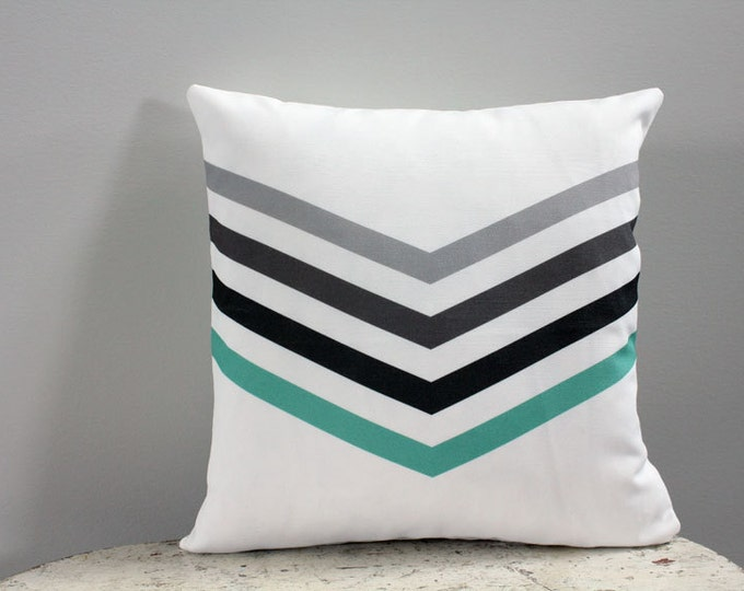 Pillow cover chevron 14 inch 14x14 modern hipster accessory couch home decor nursery baby gift present zipper closure canvas ready to ship