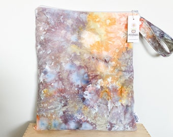 The ICKY Bag XL - wetbag - PETUNIAS by Kelly -  Hand dyed - one of a kind