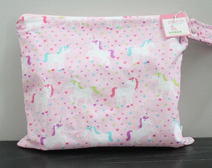 Wet Bag wetbag Diaper Bag ICKY Bag wet proof pink unicorn gym bag swim cloth diaper accessories zipper gift newborn baby kids beach bag