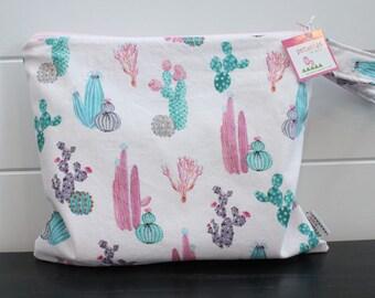 Wet Bag wetbag Diaper Bag ICKY Bag wet proof pink cactus gym bag swim cloth diaper accessories zipper gift newborn baby kids beach bag