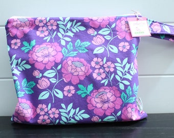 Wet Bag wetbag Diaper Bag ICKY Bag wet proof purple floral gym bag swim cloth diaper accessories zipper gift newborn baby kids beach bag