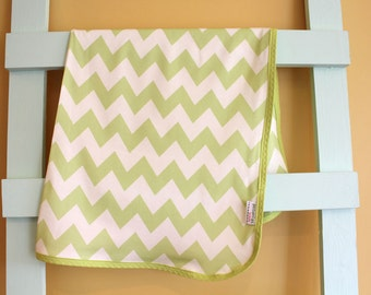 SALE Citron Organic Swaddle Blanket Chevron Geometric by PETUNIAS newborn hipster modern baby shower gift photo prop wrap cotton girl boy nu