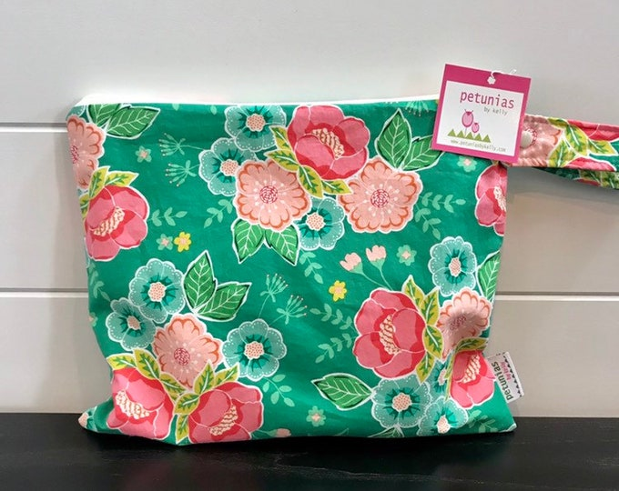 Wet Bag wetbag Diaper Bag ICKY Bag wet proof jade green pink floral gym bag swim cloth diaper accessories zipper gift newborn baby kids beac