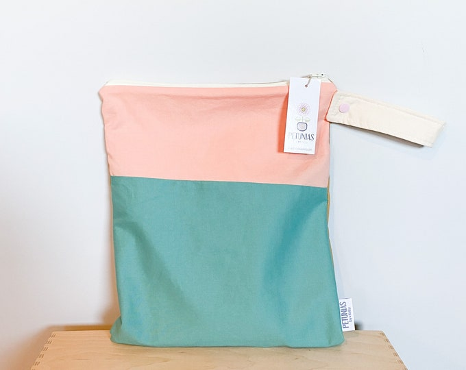 The ICKY Bag - wetbag - PETUNIAS by Kelly - Simply Color Series - color block