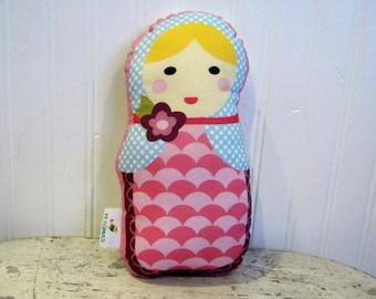 PETUNIAS' Matryoshka/Babushka Doll Pillow - SALE