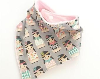 baby bib toddler bandana bandanna bib teething bib drool bib baby shower gift indian doll adjustable snap absorbent child bib